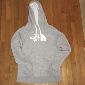 Large Women's Grey North Face Hoodie